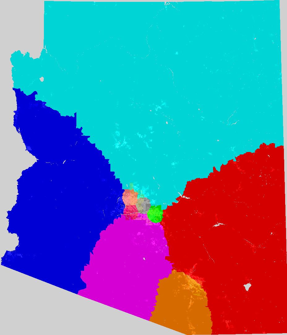 Map Of Arizona Congressional Districts.Arizona Congress Redistricting