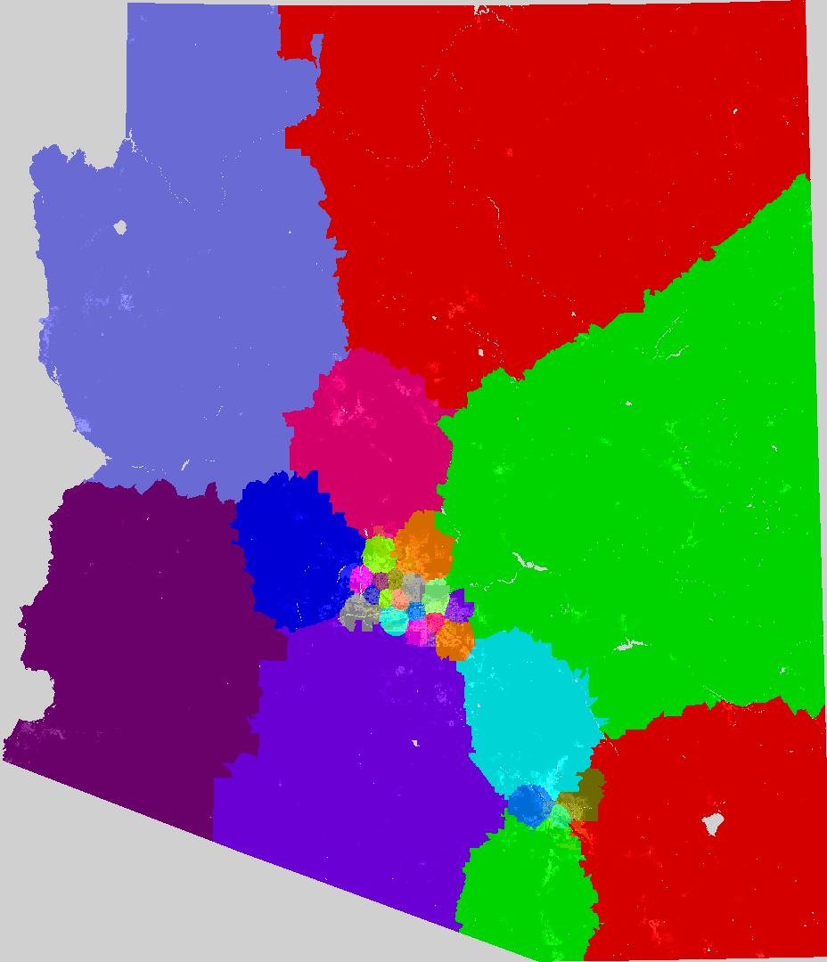 Map Of Arizona Legislative Districts.Arizona Senate Redistricting