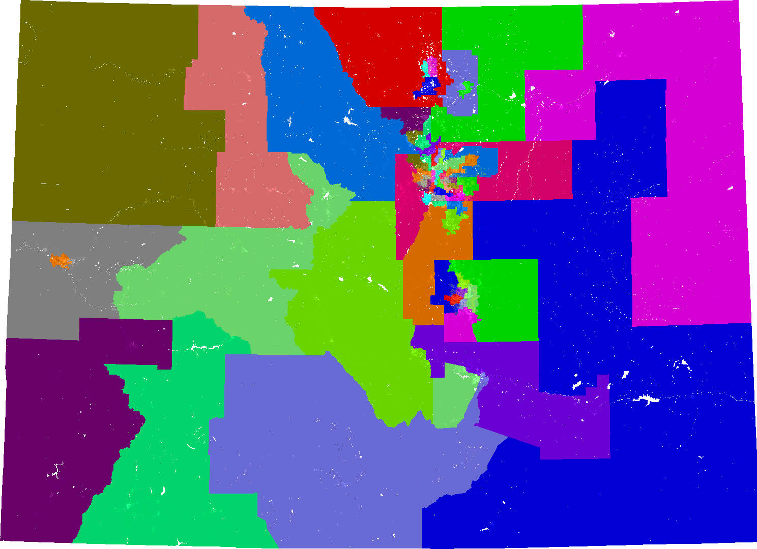 Colorado House District Map Colorado House of Representatives Redistricting