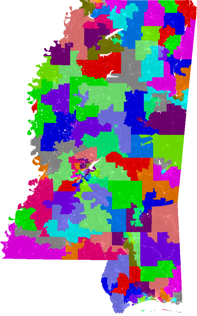 Mississippi House District Map Mississippi House of Representatives Redistricting