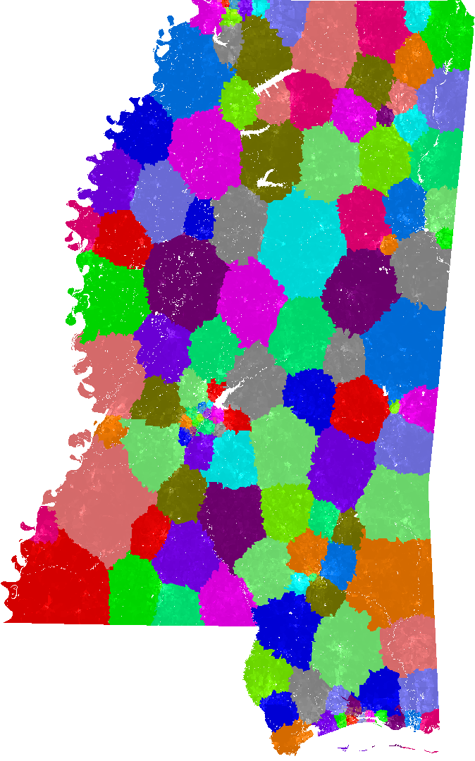 Mississippi House Of Representatives Congressional District Map, Current