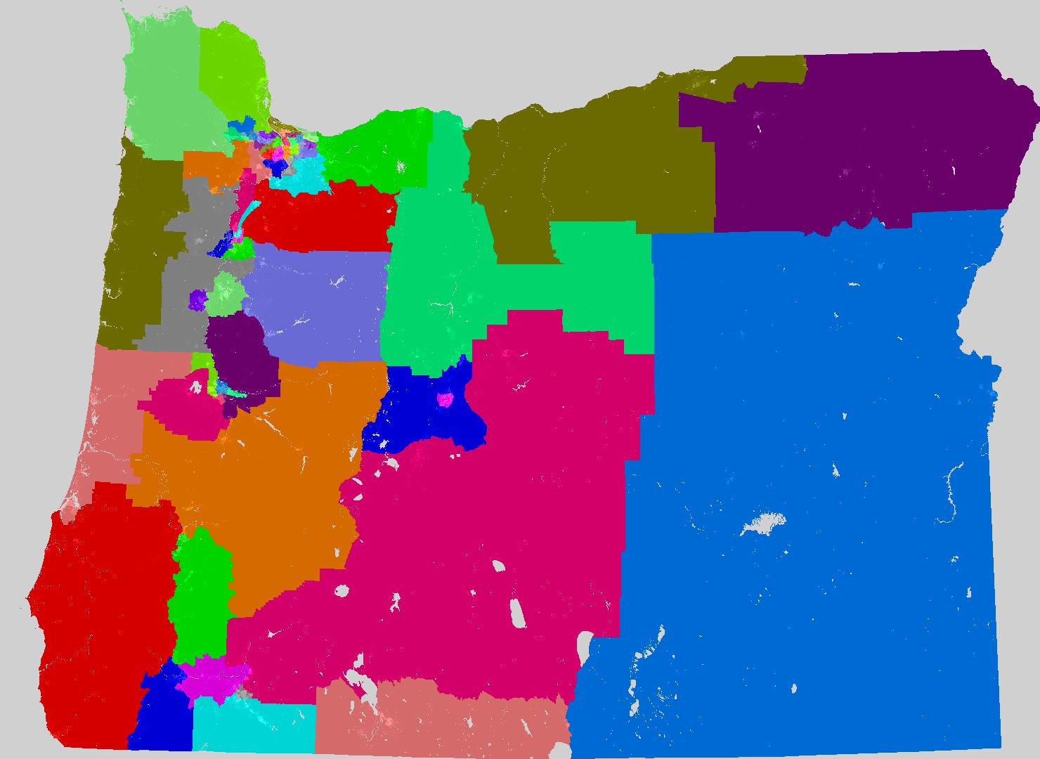 Oregon House Of Representatives Map Oregon House of Representatives Redistricting