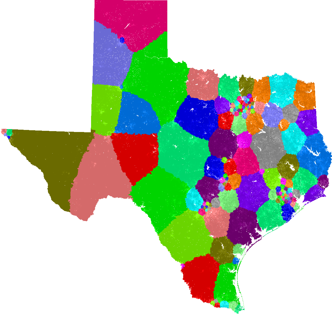 Texas State Representatives District Map